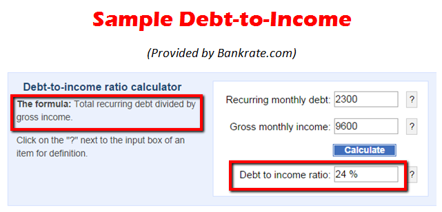 debt to income