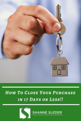 How to close your Purchase in 17 Days or Less